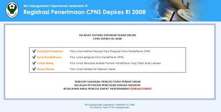 Update Info CPNS Depkes RI 2008