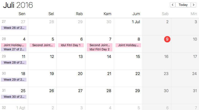 Kalender Lokal